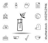 fern plant on vase outline icon....