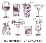 sketch cocktails. hand drawn... | Shutterstock .eps vector #1432914560