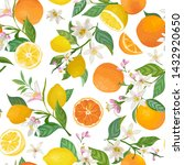 seamless lemon and orange... | Shutterstock .eps vector #1432920650