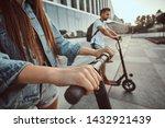 closeup photo shoot of girls... | Shutterstock . vector #1432921439