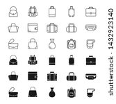bags silhouettes and outline... | Shutterstock .eps vector #1432923140