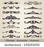 vintage decorative elements | Shutterstock .eps vector #143292454