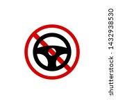 abstract sign of no driving | Shutterstock .eps vector #1432938530