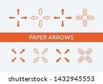 set of vector paper cut arrows. ...
