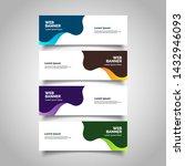 abstract vector banners.modern... | Shutterstock .eps vector #1432946093