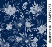 beautiful pattern dots flowers  ... | Shutterstock .eps vector #1432951073