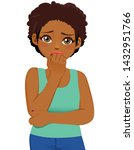 young black girl scared... | Shutterstock .eps vector #1432951766