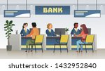 bank office interior.... | Shutterstock .eps vector #1432952840