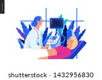 medical tests blue illustration ... | Shutterstock .eps vector #1432956830