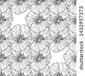flower popies graphic design.... | Shutterstock .eps vector #1432957373