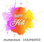 happy holi card with blobs... | Shutterstock .eps vector #1432960553