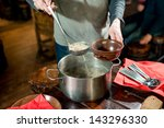 pouring the soup | Shutterstock . vector #143296330