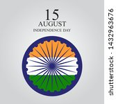 15th august india independence...   Shutterstock .eps vector #1432963676