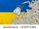 rifle bullets the chaotically... | Shutterstock .eps vector #1432971386