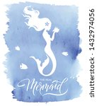 mermaid  silhouette  vector... | Shutterstock .eps vector #1432974056