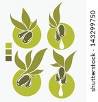 green olive and oil   vector... | Shutterstock .eps vector #143299750