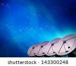 abstract satellite transmission ... | Shutterstock . vector #143300248