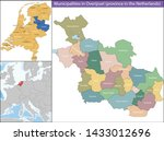 overijssel is a province of the ... | Shutterstock .eps vector #1433012696