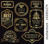 set of vintage labels in gold.... | Shutterstock .eps vector #143301274
