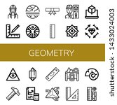 set of geometry icons such as...   Shutterstock .eps vector #1433024003