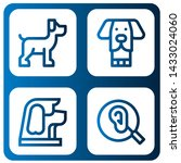 set of ears icons such as dog ...   Shutterstock .eps vector #1433024060