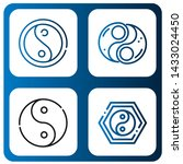 set of yan icons such as yin... | Shutterstock .eps vector #1433024450