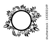 floral abstraction with a circle | Shutterstock .eps vector #143303149
