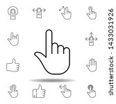 one finger gesture outline icon....