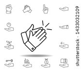hands applause outline icon.... | Shutterstock .eps vector #1433032109