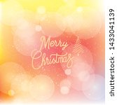christmas greeting card. merry... | Shutterstock .eps vector #1433041139