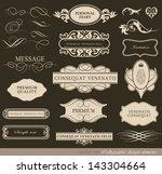calligraphic design elements ... | Shutterstock .eps vector #143304664