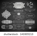 calligraphic design elements ... | Shutterstock .eps vector #143305213