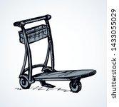 big empty arrival move handcart ...   Shutterstock .eps vector #1433055029