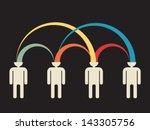mutual peer to peer idea... | Shutterstock .eps vector #143305756