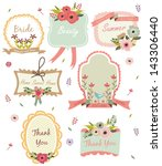 floral tag | Shutterstock .eps vector #143306440
