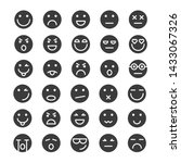 set of emoticons icons glyph ... | Shutterstock . vector #1433067326