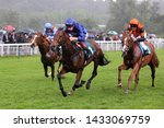 Small photo of NOTTINGHAM RACECOURSE, NOTTINGHAM, UK : 13 JUNE 2019 : The Godolphin owned Big City ridden by Adam Kirby winning the 6f 2yo Novice Stakes in wet conditions at Nottingham Races