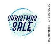 christmas sale  beautiful... | Shutterstock .eps vector #1433070230