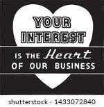 your interest   retro ad art... | Shutterstock .eps vector #1433072840