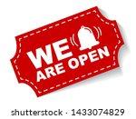 red vector illustration banner... | Shutterstock .eps vector #1433074829