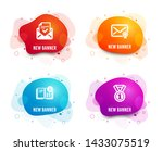 liquid badges. set of approved... | Shutterstock .eps vector #1433075519