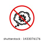 no or stop. cogwheel chat icon. ... | Shutterstock .eps vector #1433076176