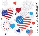 pattern 4th of july happy... | Shutterstock .eps vector #1433078420