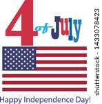 4th of july happy independence... | Shutterstock .eps vector #1433078423