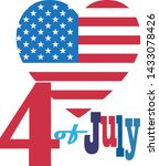 4th of july happy independence... | Shutterstock .eps vector #1433078426