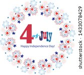 4th of july happy independence... | Shutterstock .eps vector #1433078429