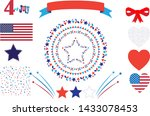 4th of july happy independence... | Shutterstock .eps vector #1433078453