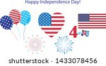 4th of july happy independence... | Shutterstock .eps vector #1433078456