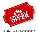 red vector illustration banner... | Shutterstock .eps vector #1433080859