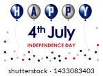 happy 4th of july. usa... | Shutterstock .eps vector #1433083403